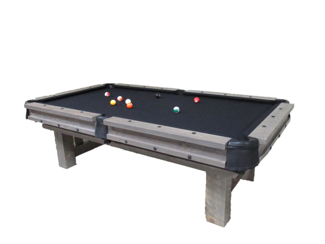 Weathered Log Pool Table