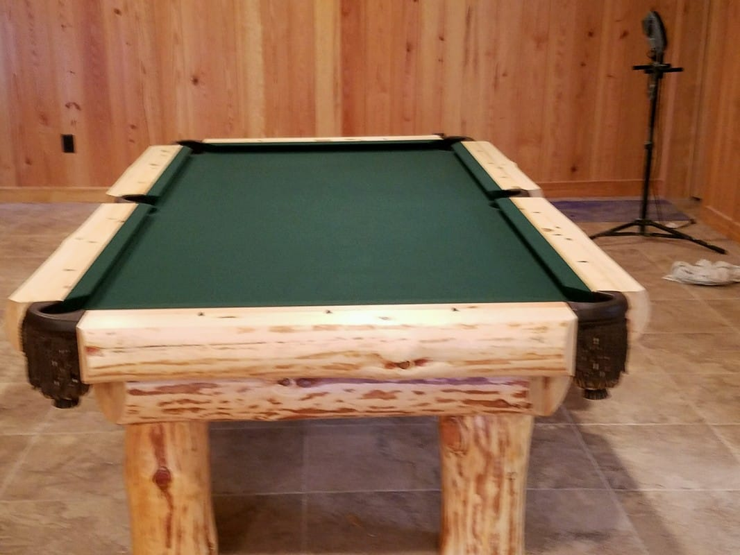 Barnwood Log Pool Tables Rustic Billiards - Clear pool table