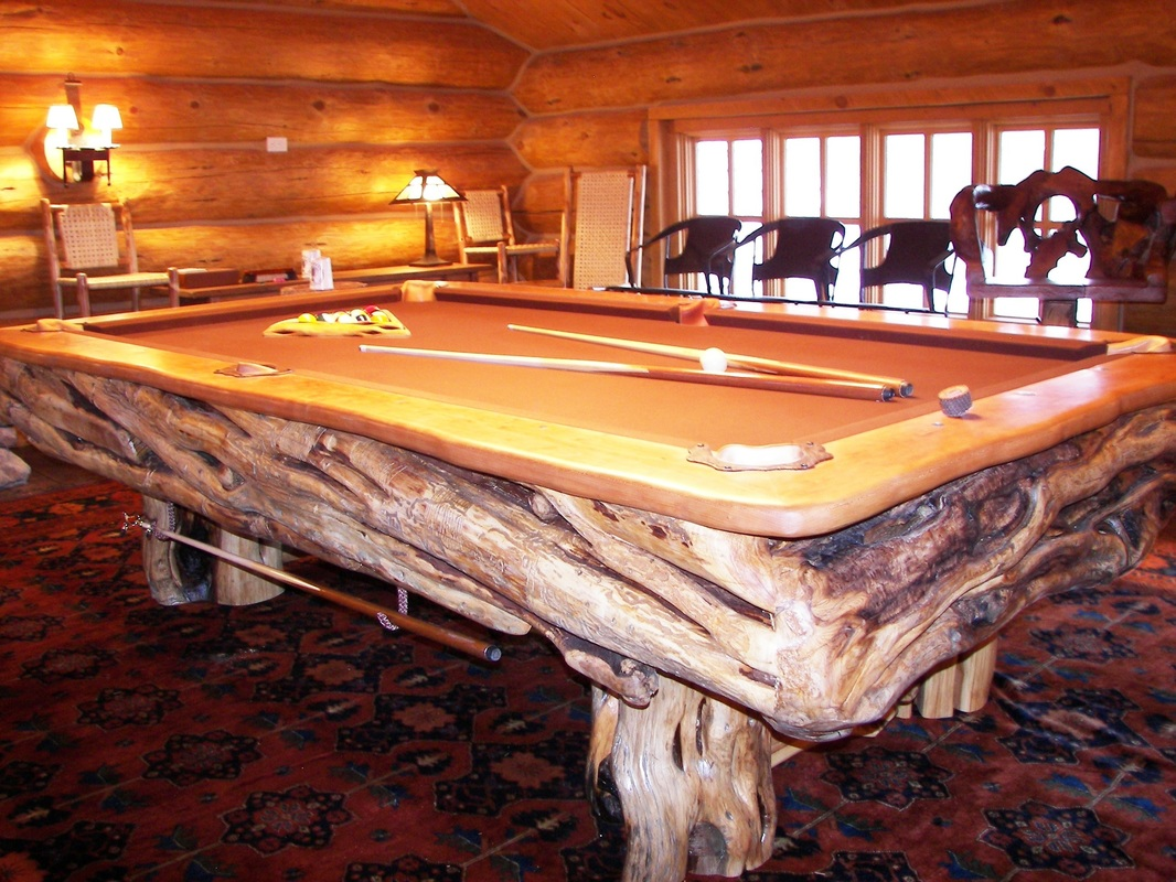 Log Pool Tables Rustic Billiards