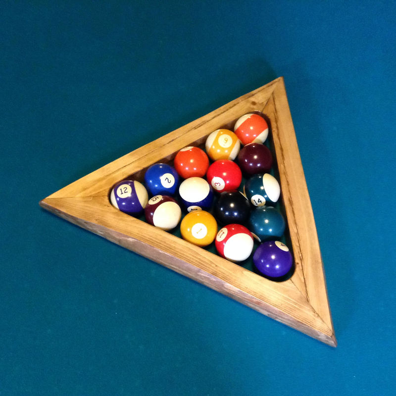 Log Pool Table Triangle