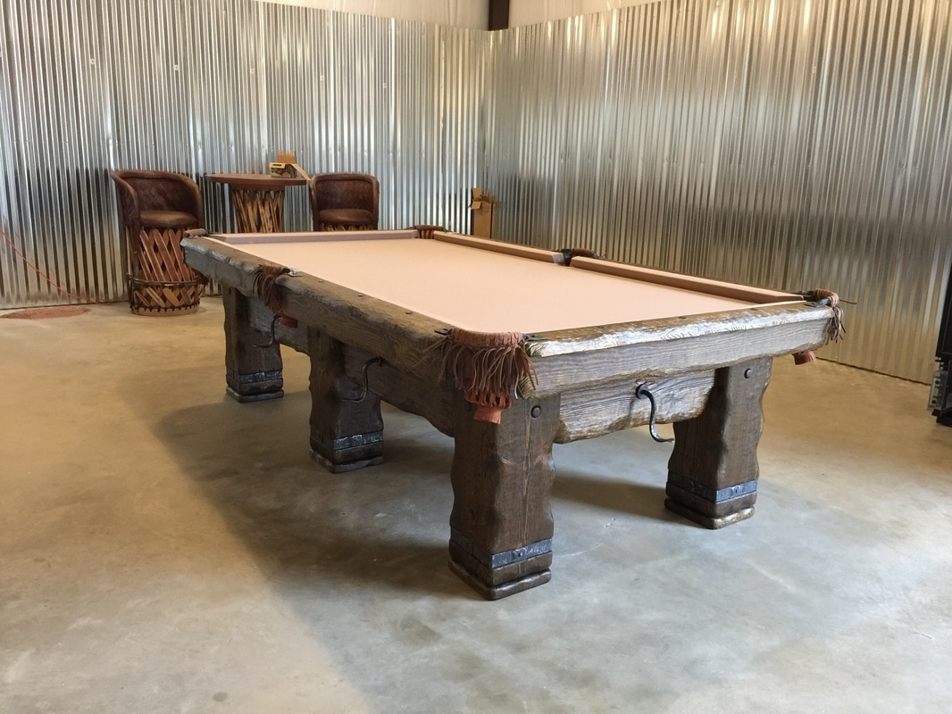 Rustic Log Pool Tables 2021
