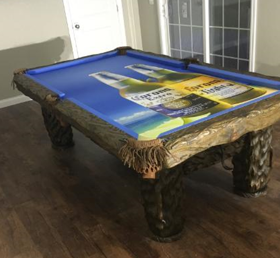 Custom Pool Table Cloth.