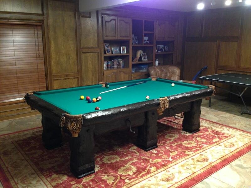 Rustic Log Cabin Pool Table