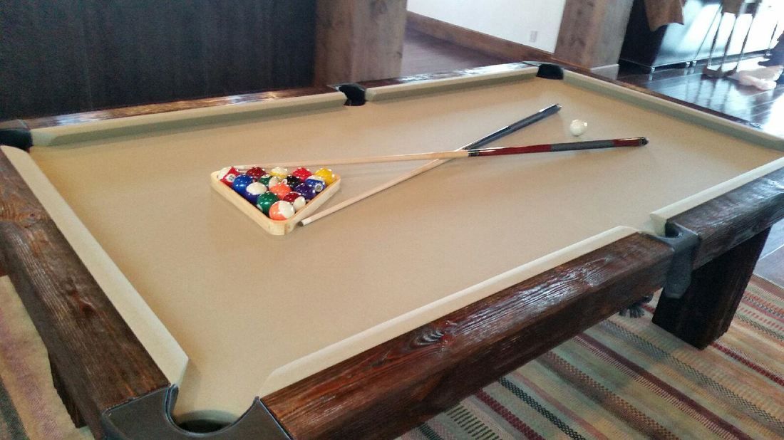 Ranch Log Pool Table