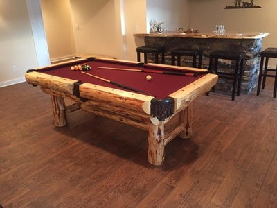 Remarkable Log Pool Tables Rustic Billiards Download Free Architecture Designs Licukmadebymaigaardcom