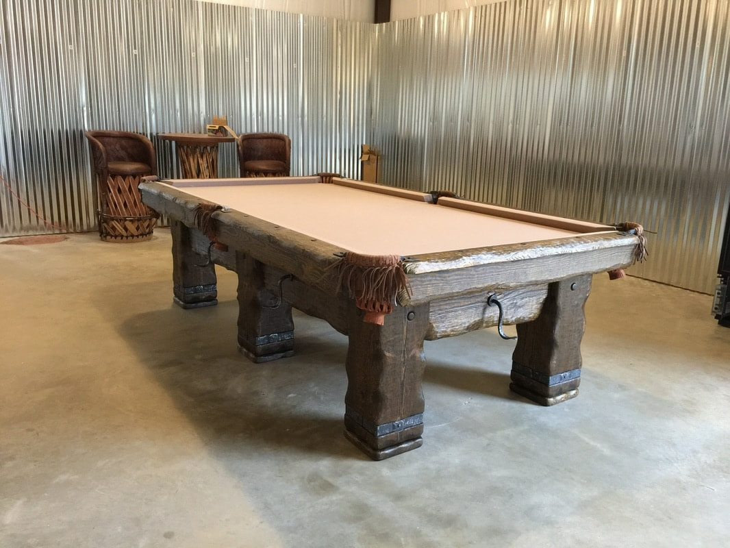 Rustic pool tables