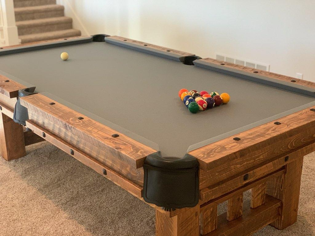 Barnwood Log Pool Tables