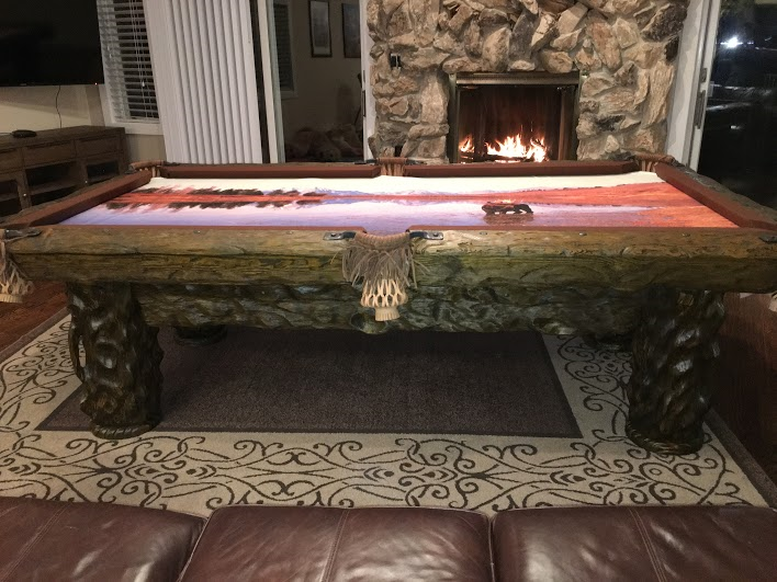 Log Pool Tables Custom Felt