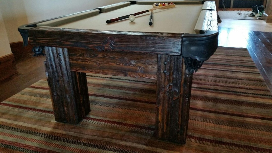 Rustic Log Pool Tables 2018