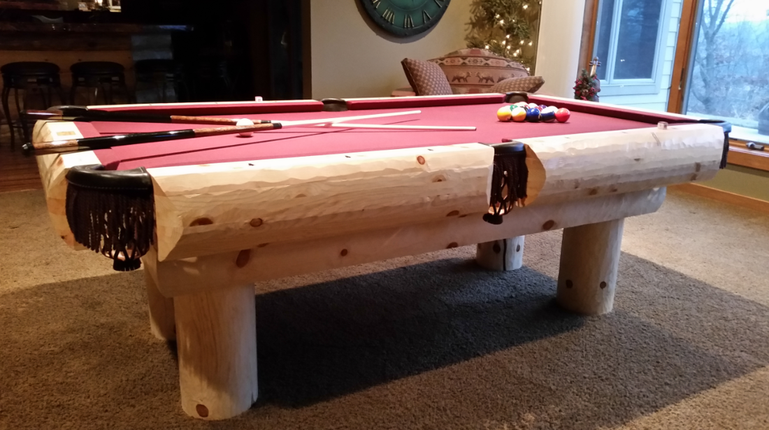 Rustic Log Pool Tables 2019