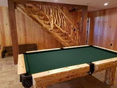 Rustic Log Pool Tables 2015