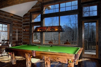 Rustic Log Pool Tables 2016
