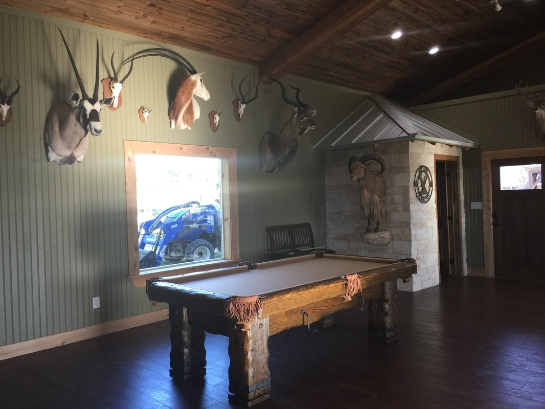 Rustic Pool Table in Texas.